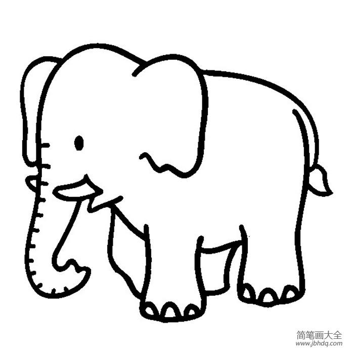 大象简笔画图片大全|大象简笔画