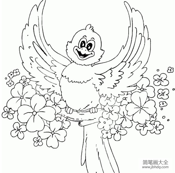 [我是一只快乐的小鸟]快乐的小鸟简笔画