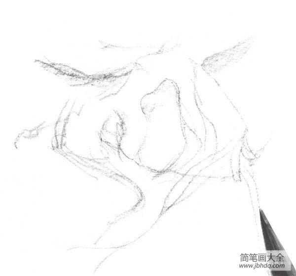速写树的画法_速写树根的绘画教程