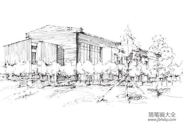 钢笔速写建筑|速写概念建筑的绘画技法