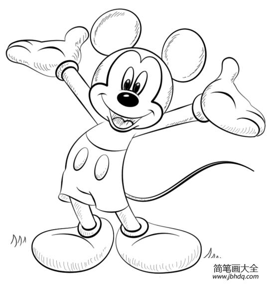 米老鼠怎么画|如何画米老鼠