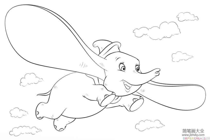 如何画小兔子_如何画小飞象