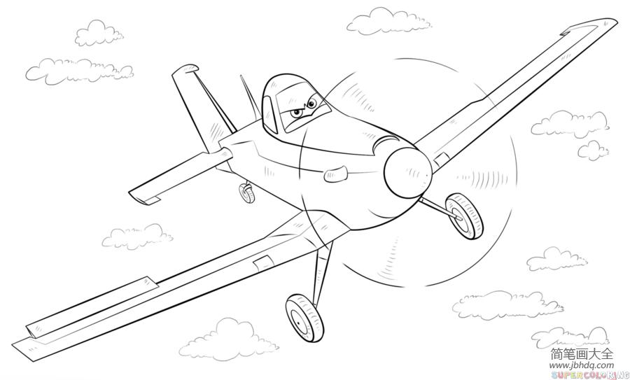 飞机总动员3_如何画飞机总动员里的达斯蒂