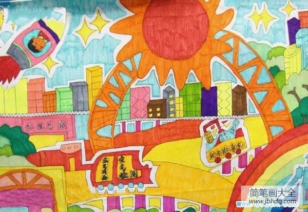 未来城市图片|未来城市儿童画图片大全