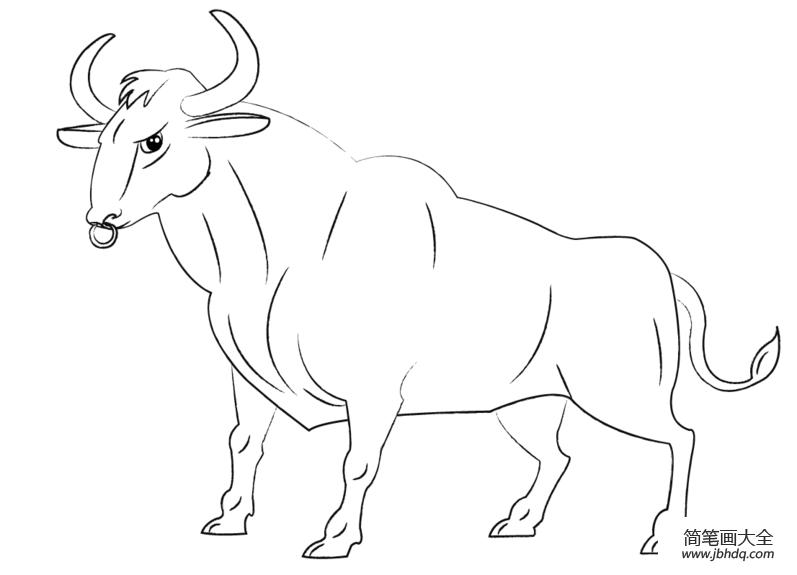 卡通牛的画法