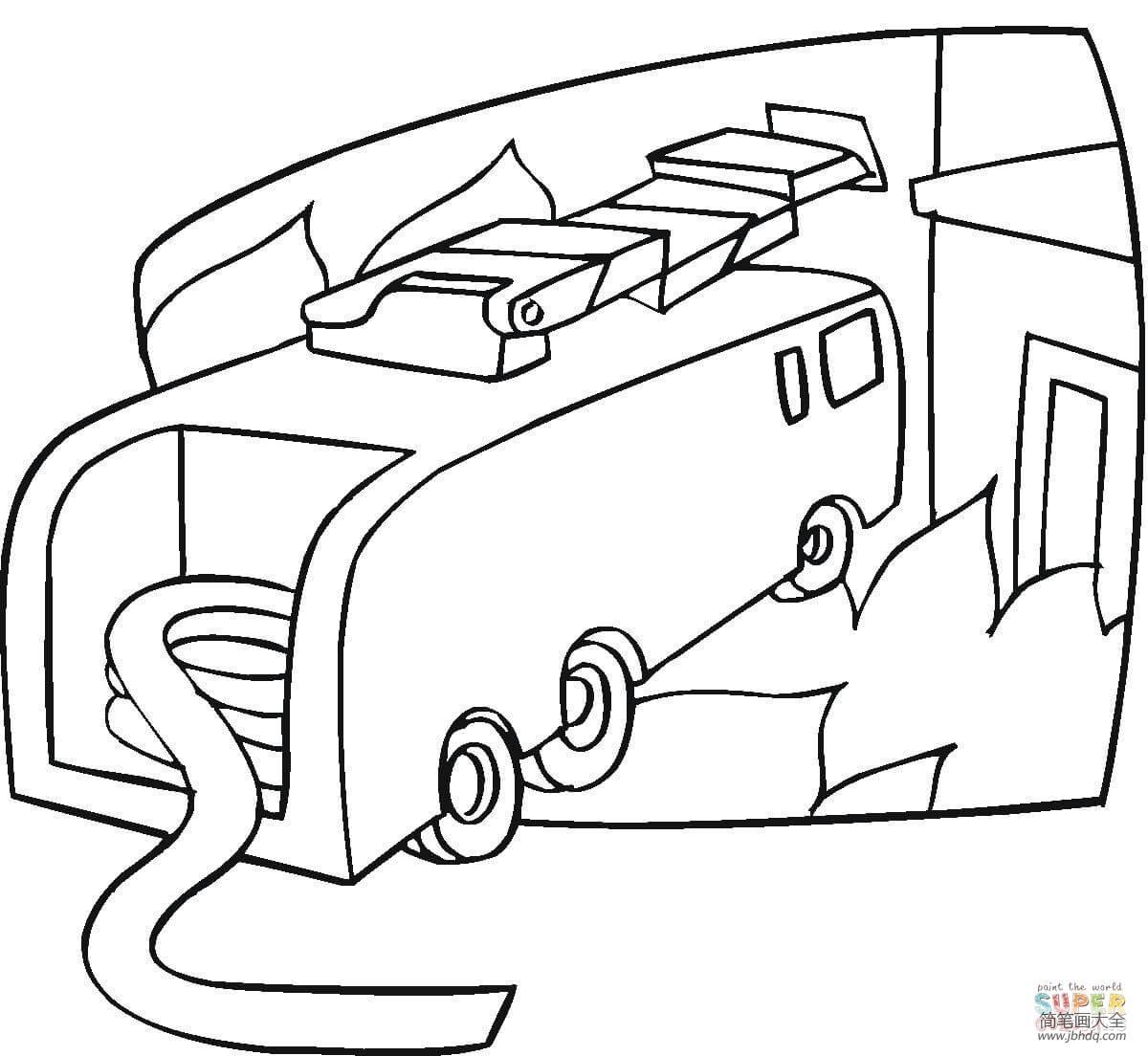 消防车怎么画的_消防车怎么画