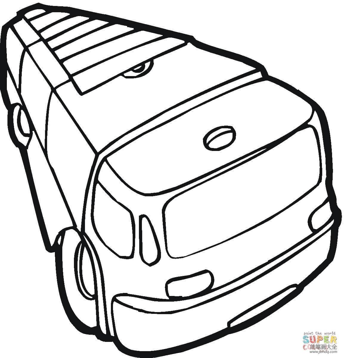 简笔画消防车的画法_消防车简单画法