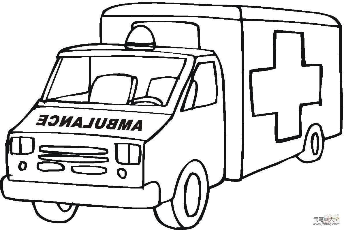 [简笔画救护车的画法]紧急救护车的画法