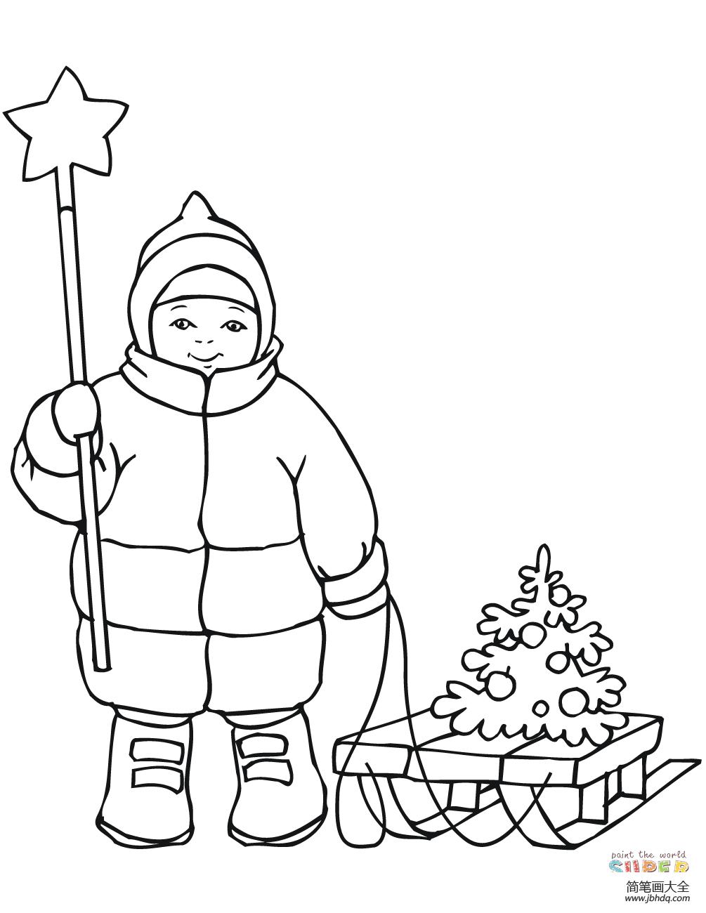可爱男孩头像|可爱的男孩拿着圣诞星