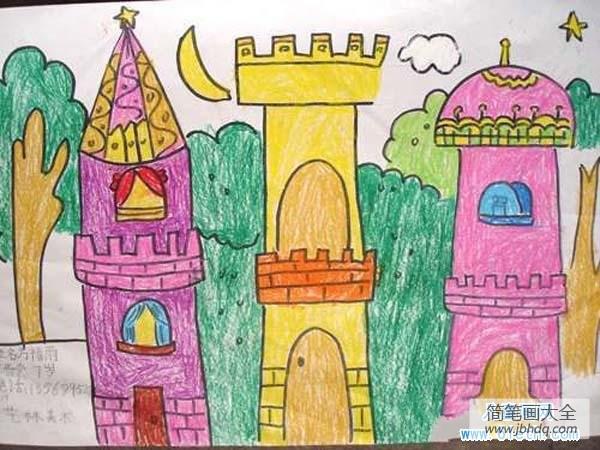 [建筑了城堡]外国建筑城堡儿童画图片