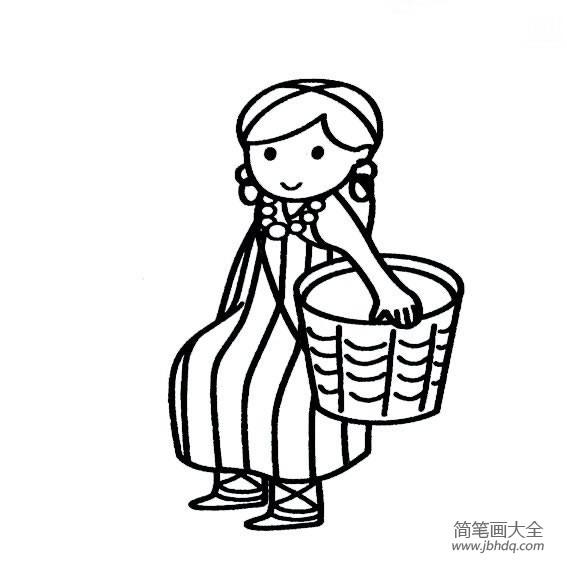 【独龙族的民风民俗】独龙族少女