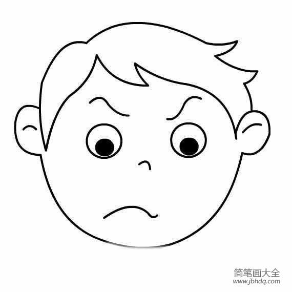 表情 生气男孩简笔画图片 小男孩简笔画 简笔画大全 表情