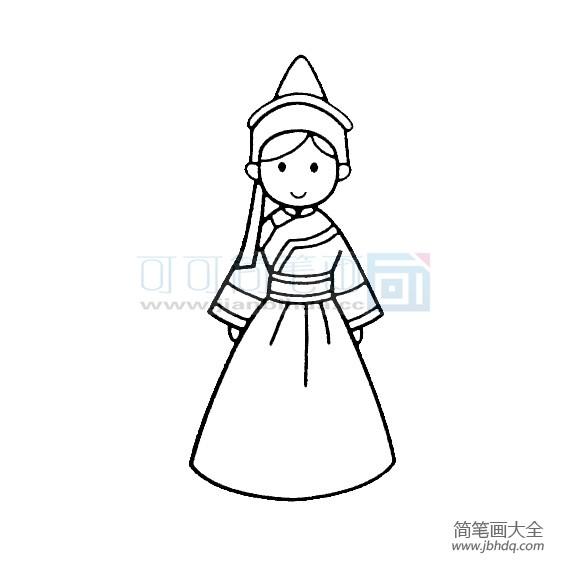 鄂温克族服饰|鄂温克族少女画法