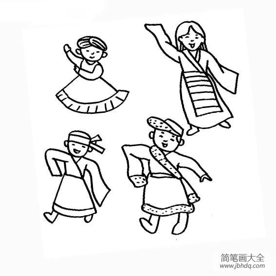 少数民族的节日|四种少数民族姑娘动态画法
