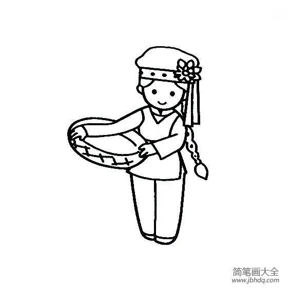 【保安族简介】保安族小女孩