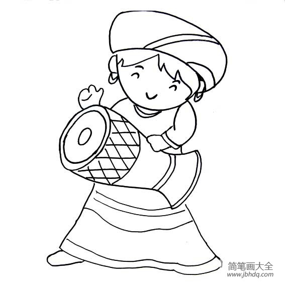 拉祜族怎么读|拉祜族简笔画