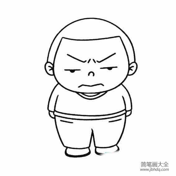 【怎样画男孩简笔画图片】生气的男孩简笔画怎样画