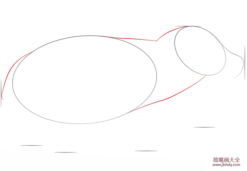 如何画河马