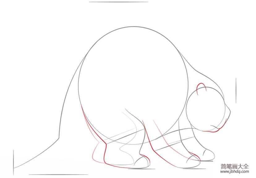 如何画豪猪