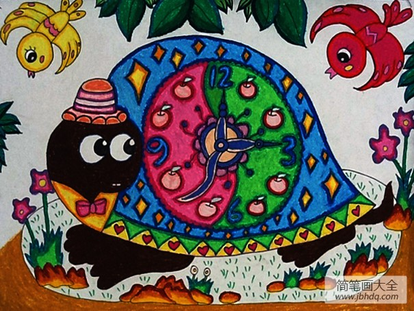 儿童画画学习_儿童画:动物的交流