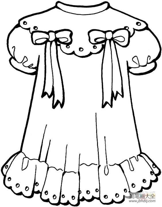 小仙女简笔画_小女孩的裙子