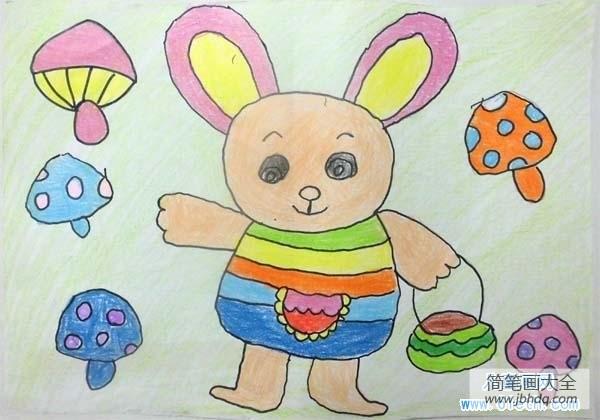 [卡通兔子简笔画]幼儿园卡通兔子儿童画画图片