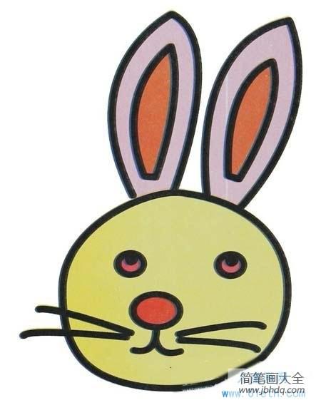兔子图片卡通头像_兔子头像儿童画图片