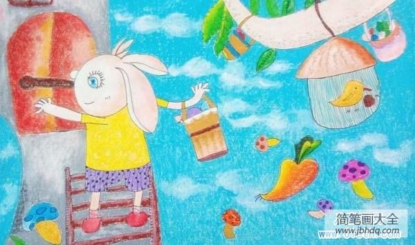 军训图片卡通 插画 卡通兔子儿童插画图片