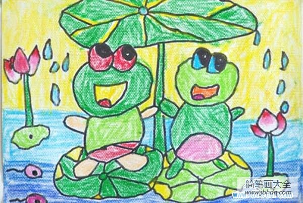 儿童医院_儿童青蛙儿童画图片大全
