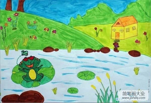 [小学六年级英语复习资料]小学六年级儿童画:青蛙