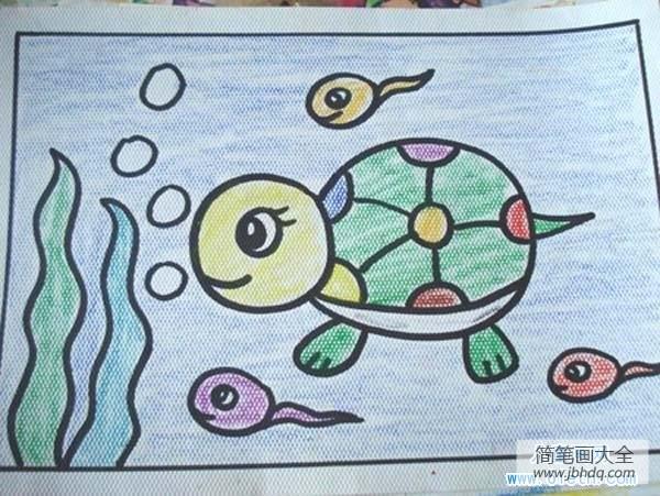 【乌龟画画图片大全】幼儿乌龟儿童画画图片:乌龟和蝌蚪
