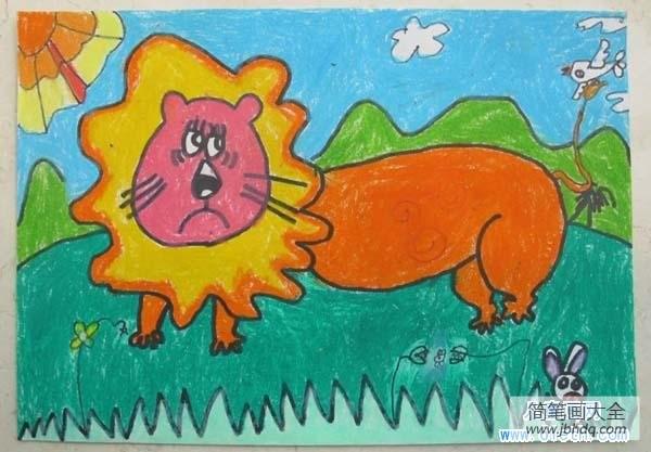 【幼儿园大班数学练习题】幼儿园大狮子儿童画画图片