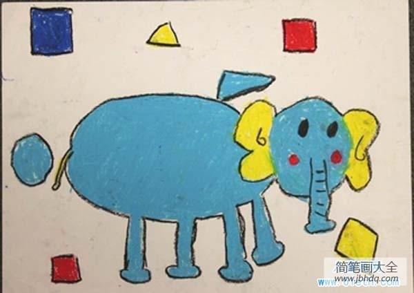 [幼儿园大班数学练习题]幼儿园大班大象儿童画图片