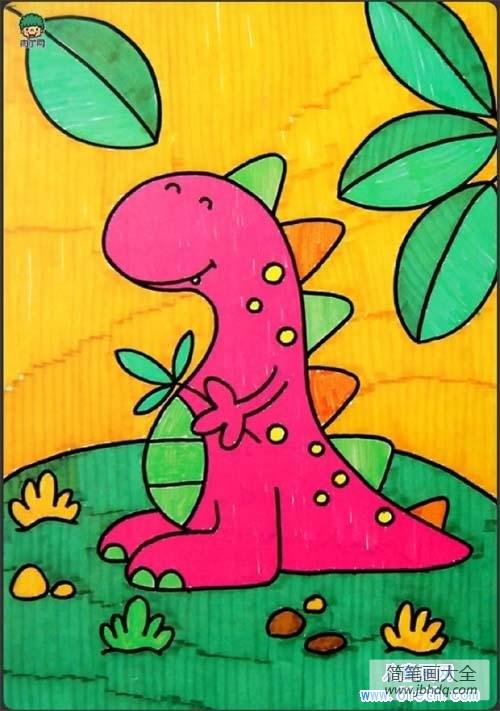 卡通恐龙图片大全可爱_可爱卡通恐龙儿童画图片