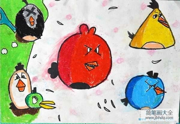 愤怒的小鸟2_愤怒的小鸟儿童画图片