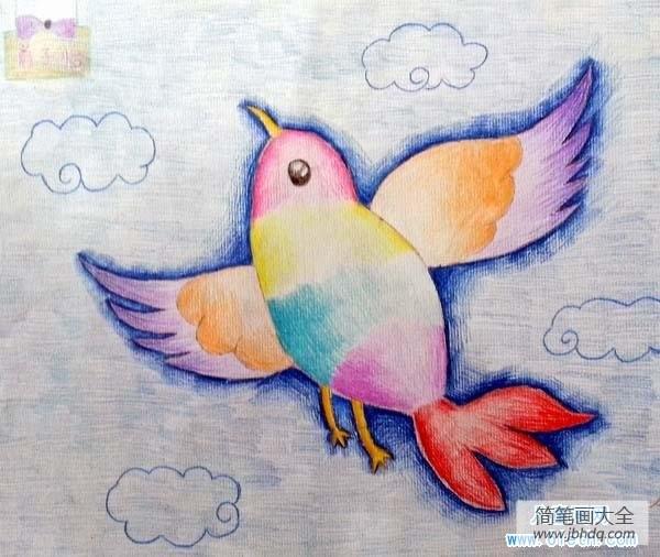 [美丽的鸟儿图片]儿童美丽的小鸟儿童画画作品欣赏