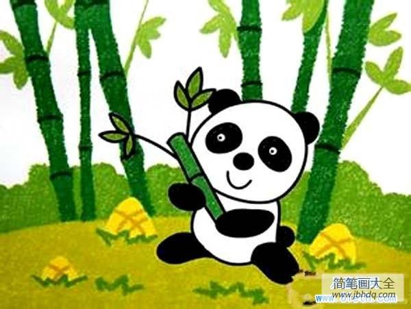 儿童医院_儿童熊猫儿童画油画棒画作品欣赏
