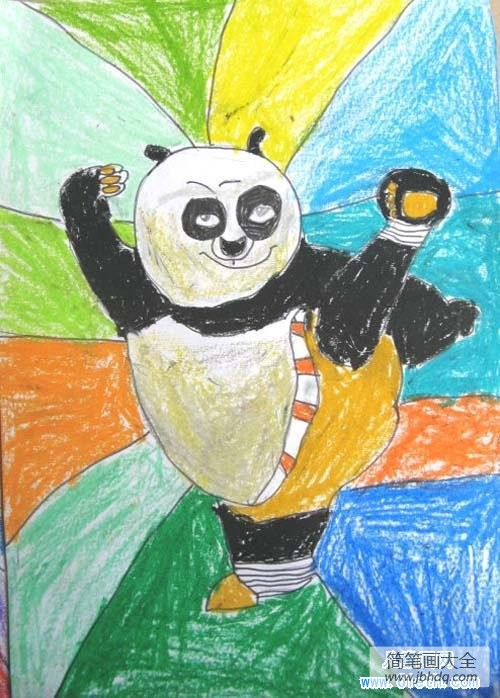 卡通人物图片_少儿卡通人物儿童画图片:功夫熊猫