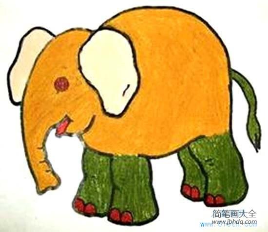 [宝宝认图卡片 动物]儿童动物儿童画图片:大象
