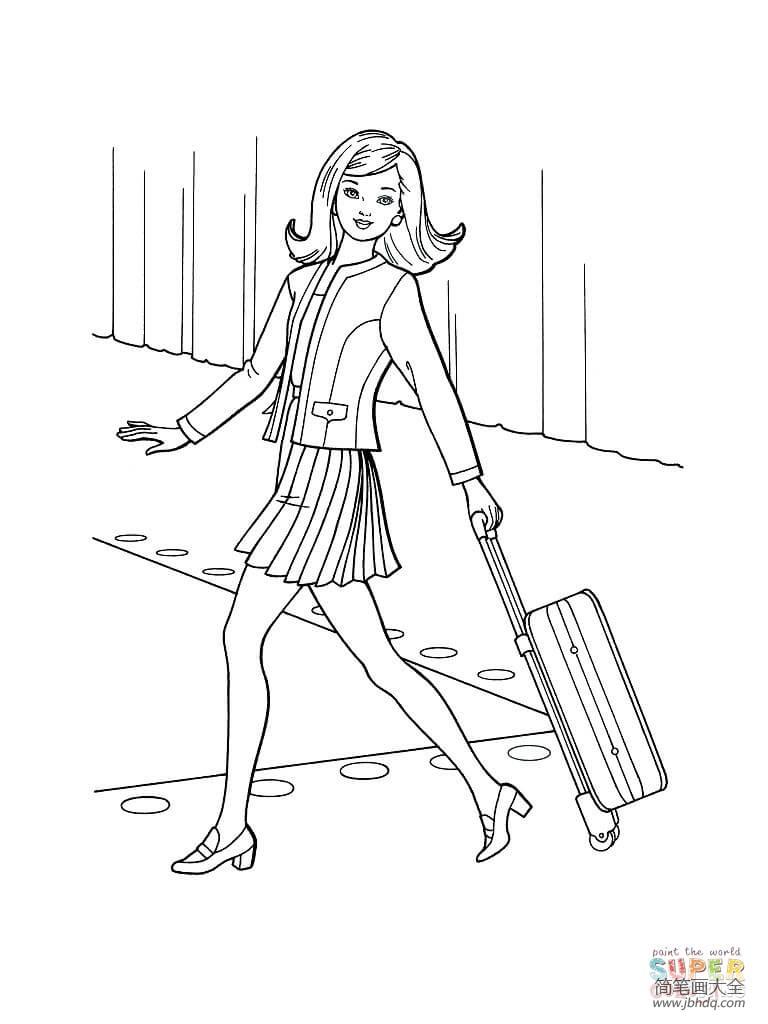 【去旅行需要准备的东西】准备去旅行的小女孩