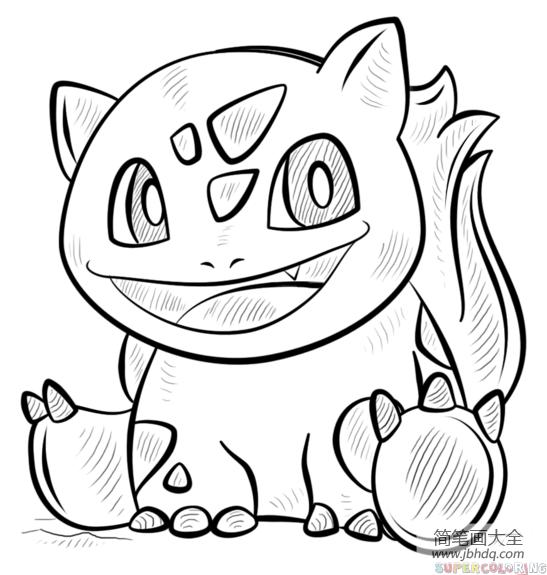 神奇宝贝宠物简笔画教程