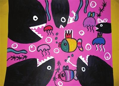 小鱼快跑儿歌_小鱼快跑——创意美术