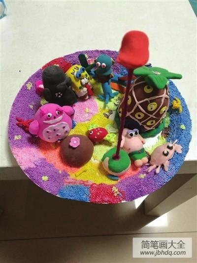 [海绵宝宝黏土手工制作]海绵宝宝黏土手工