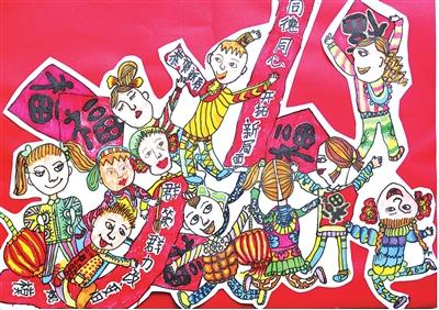今天是什么节日_(节日儿童画)迎新春