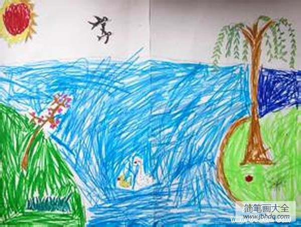 【幼儿园数学练习题】幼儿春天儿童画图片