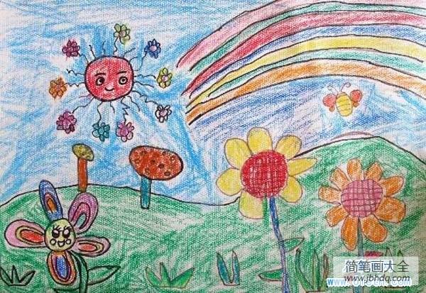 [春天开的花朵有哪些]春天可爱的花朵儿童画