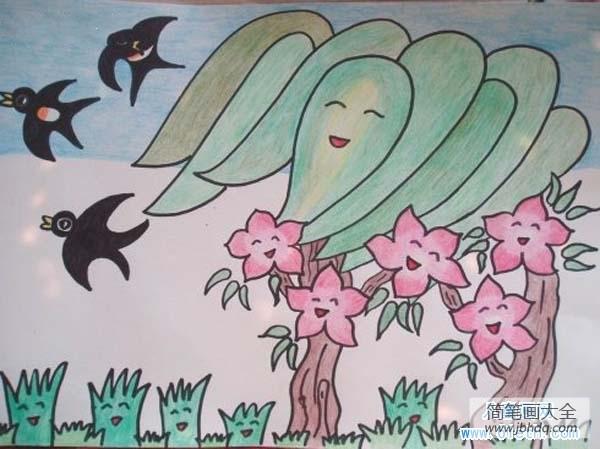 【春天二手车】春天儿童画教师范画