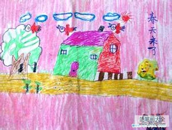 [春天主题画]春天主题儿童画作品