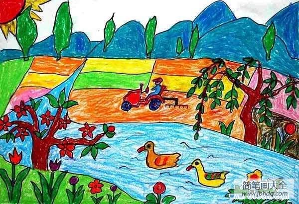 个人医保查询网上查询系统_少儿关于春天野外景色儿童画作品