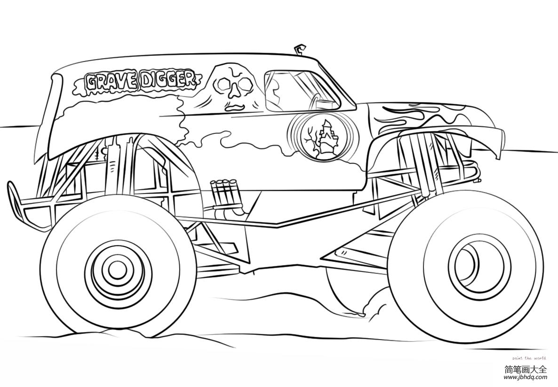 【怪物卡车动画片】掘墓人怪物卡车
